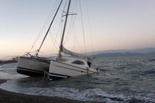 Anmeldung Kurzgeschichte Abenteuer Leben - Gesunkene Yacht vor Rhodos, Skipper hat überlebt